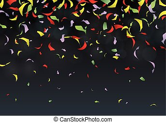 Confetti party background carnival, vector illustration