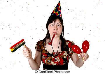Confetti Party Girl
