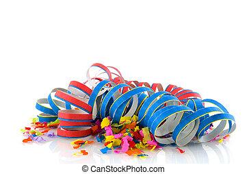 confetti - colorful confetti for a party or carnival