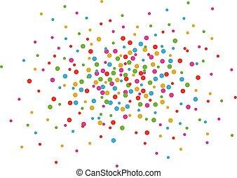 confetti, queda, fundo branco, coloridos