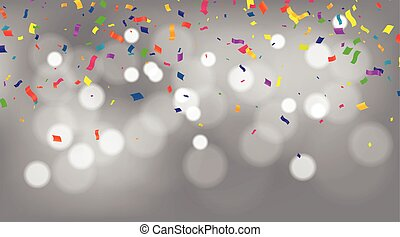 confetti, ruban, beaucoup, tomber, coloré, fond