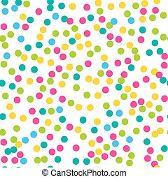 Confetti seamless pattern. Bright c