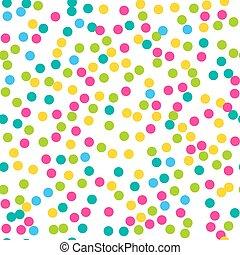 Confetti seamless pattern. Bright c