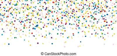 confetti, spadanie, bez końca