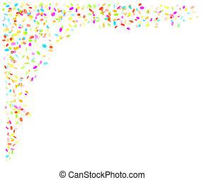 confetti, spadanie