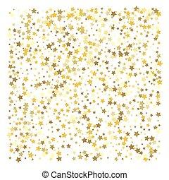 confetti, stars., or, célébration