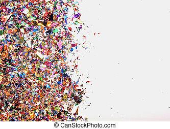 confetti and copy space ,