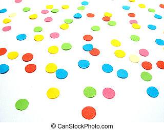 Confetti - Detail confetti, the colored confetti background...