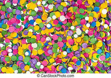 confetti, tło