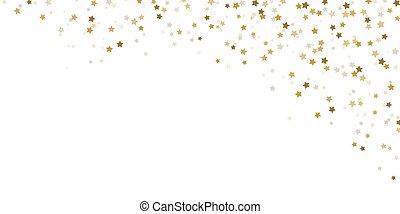 confetti, temps noël, fond, étoiles