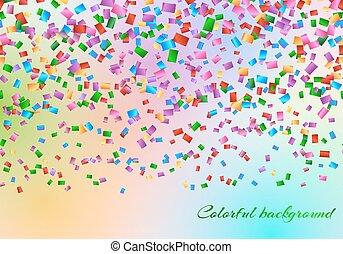 confetti, toile de fond, air