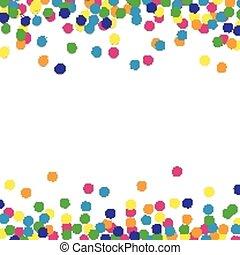 confetti, vecteur, fond