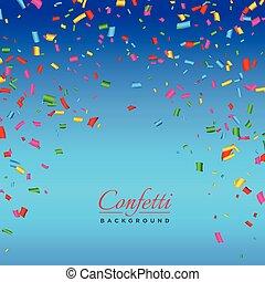 confetti, vector, achtergrond, kleurrijke