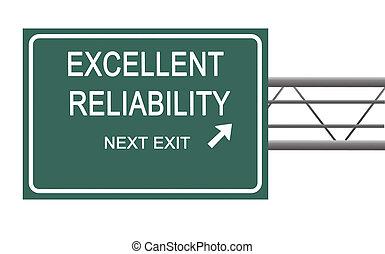 confiabilidad, señal, camino, exellent
