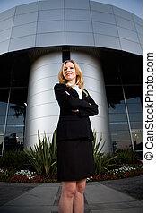 confiado, corporación mercantil de mujer