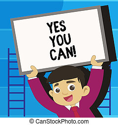 confiança, negócio, can., foto, mostrando, encorajamento,...