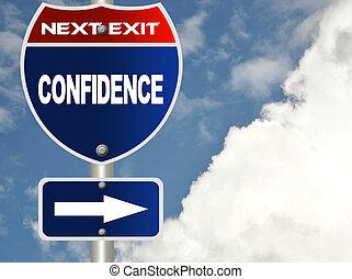 confiança, sinal estrada