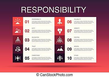 confiança, template., honestidade, opção, infographic, ...