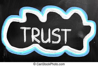 confiance, concept