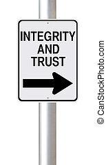 confiance, intégrité