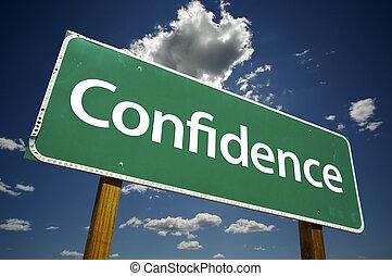 confiance, panneaux signalisations