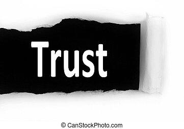 confiance, papier, sous