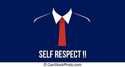 confiance, soi, personne, complet, cravate, respect, rouges