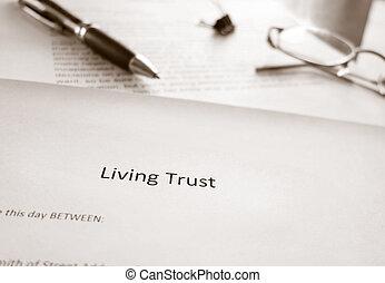 confiance, vivant, planification, propriété