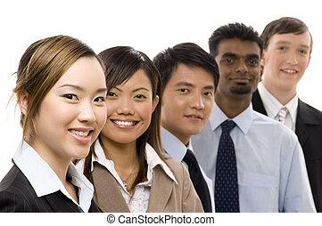confiant, 2, equipe affaires