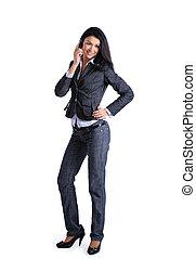 confiant, intelligent, femme affaires