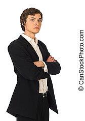 confiant, jeune, homme affaires