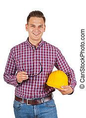 confiant, jeune, ingénieur