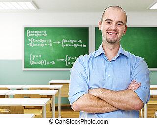 confiant, prof