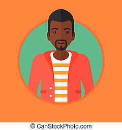 confiant, vecteur, illustration., homme affaires, jeune