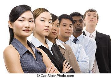 confiante, equipe negócio, 3