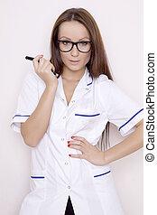 confiante, profissional, doutor