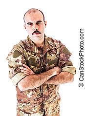 confiante, soldado