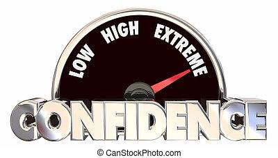 confianza, alto, creencia, fe, bueno, actitud, perspectiva,...