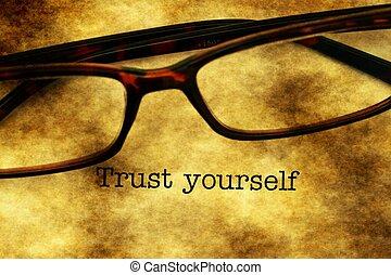 confianza, usted mismo