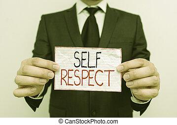 confianza, yourself., texto, respect., estante, sí mismo, arriba, orgullo, sí mismo, escritura, significado, concepto