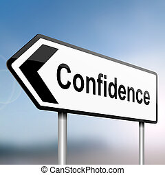 Confidence concept. - illustration depicting a sign post ...
