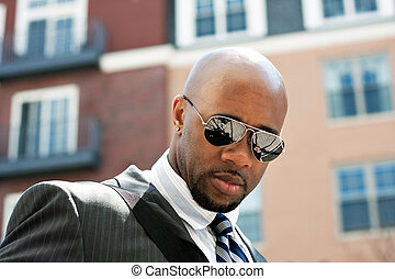 Confident African American Business Man