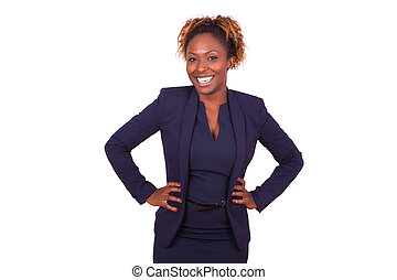 Confident African American business woman