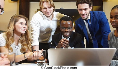 Confident And Attractive Multi-Ethnic Business Team In A Meeting.