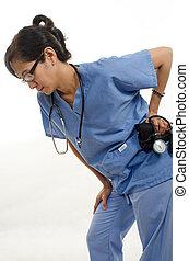 Confident Asian nurse doctor medical professional