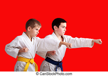 athletes are training blows arms