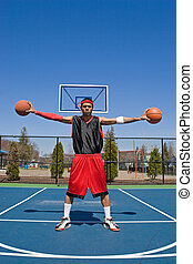 Confident Basketball Player