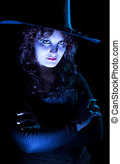 Confident Blue Witch