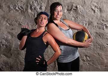 Confident Boot Camp Training Women