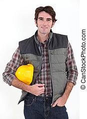 Confident builder
